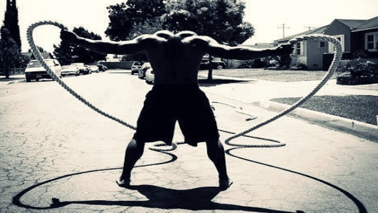 18min Battle Rope Workout Routine - YouTube