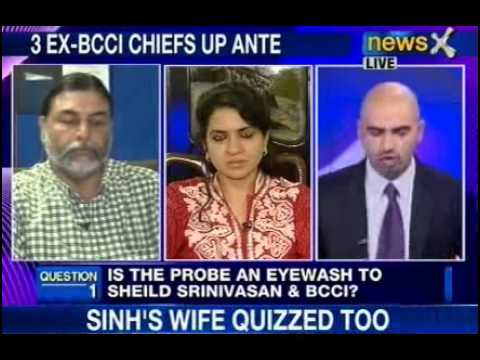 NewsX debate: Is the probe eyewash to shield Srinivasan, BCCI? -- Part 1