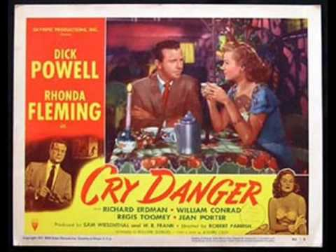 CRY DANGER Dick Powell Rhonda Fleming Film Noir Movie Posters and Lobby Cards