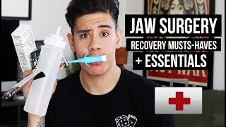 JAW SURGERY POST-OP MUST HAVES + ESSENTIALS 😷 | JAIRWOO