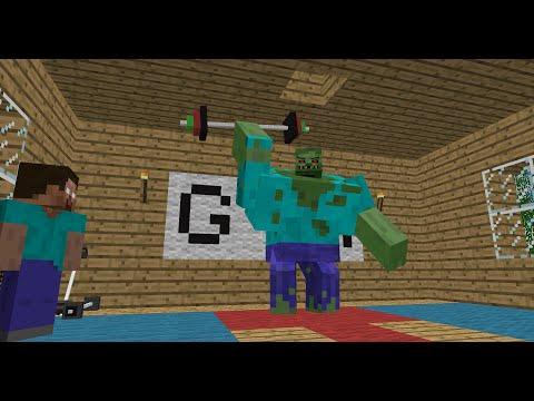 Monster School: Bodybuilding - Minecraft Animation