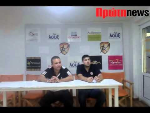 Κόροιβος: Συνέντευξη Τύπου Μαρκόπουλου
