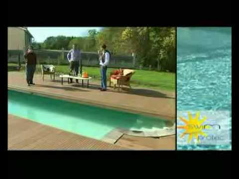 la couverture mobile de piscine youtube. Black Bedroom Furniture Sets. Home Design Ideas