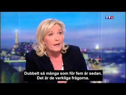 Marine Le Pen i TF1 februari