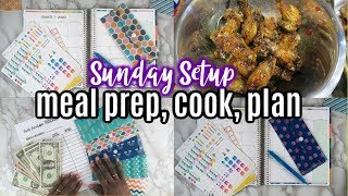 ✅ BUDGET Meal Planning ✅Hot Honey Lemon Pepper Chicken Wings✅Erin Condren Plan with me????Sunday Set