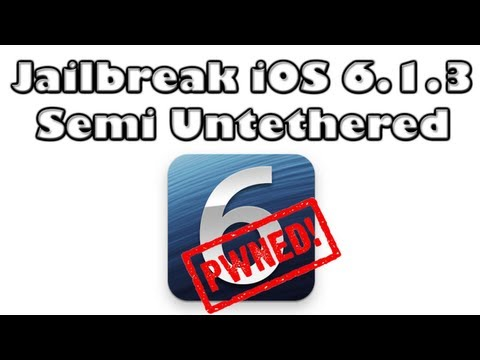 How To Jailbreak iOS 6.1.3/6.1.4/6.1.5 Using Redsn0w 0.9.15b3 (Semi Untethered)