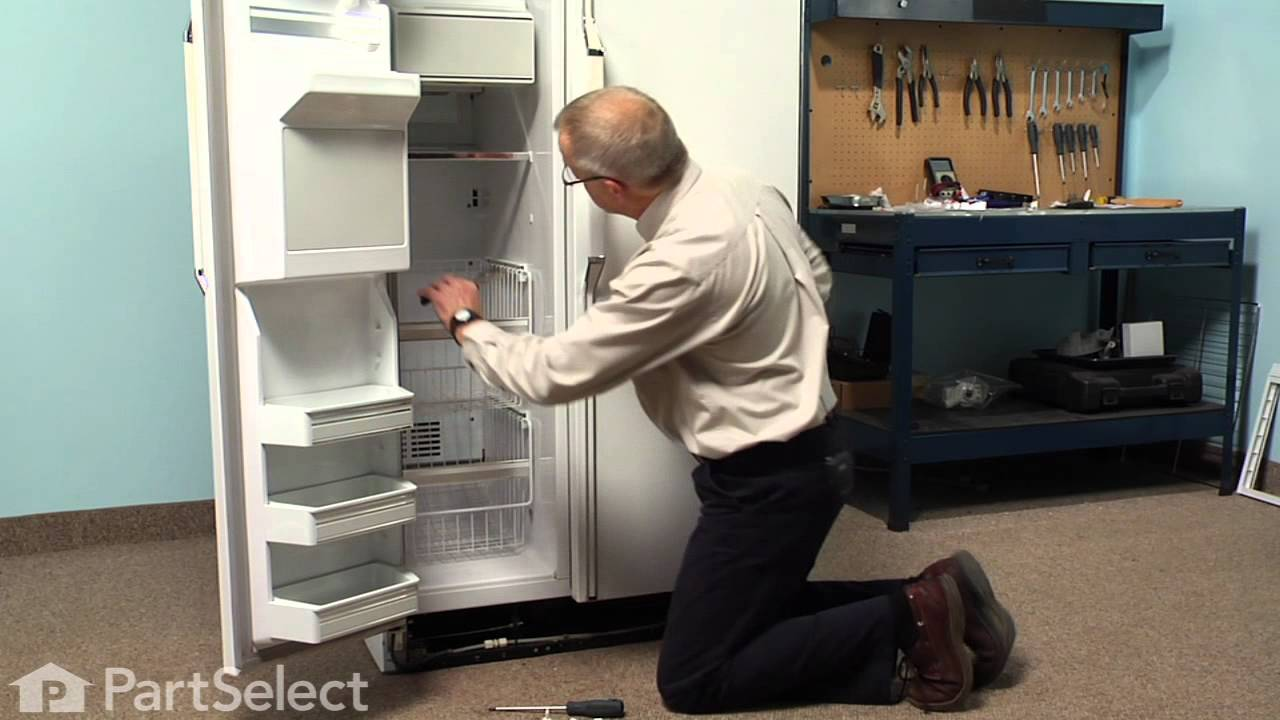 Refrigerator Repair Replacing The Shelf Support Stud Kit