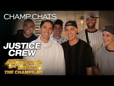 Justice Crew Talks Flirting With Heidi Klum On Stage - America's Got Talent: The Champions
