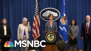 Panicked By Democrats, Donald Trump Installs Loyalist To Top DoJ Spot | Rachel Maddow | MSNBC