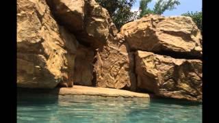 Pool Mountain Rock Stonemakers Waterfall  by Resort Waterfalls & Outdoor Living