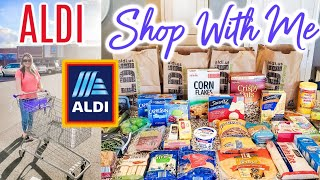 ALDI SHOP WITH ME & GROCERY HAUL | Cook Clean And Repeat