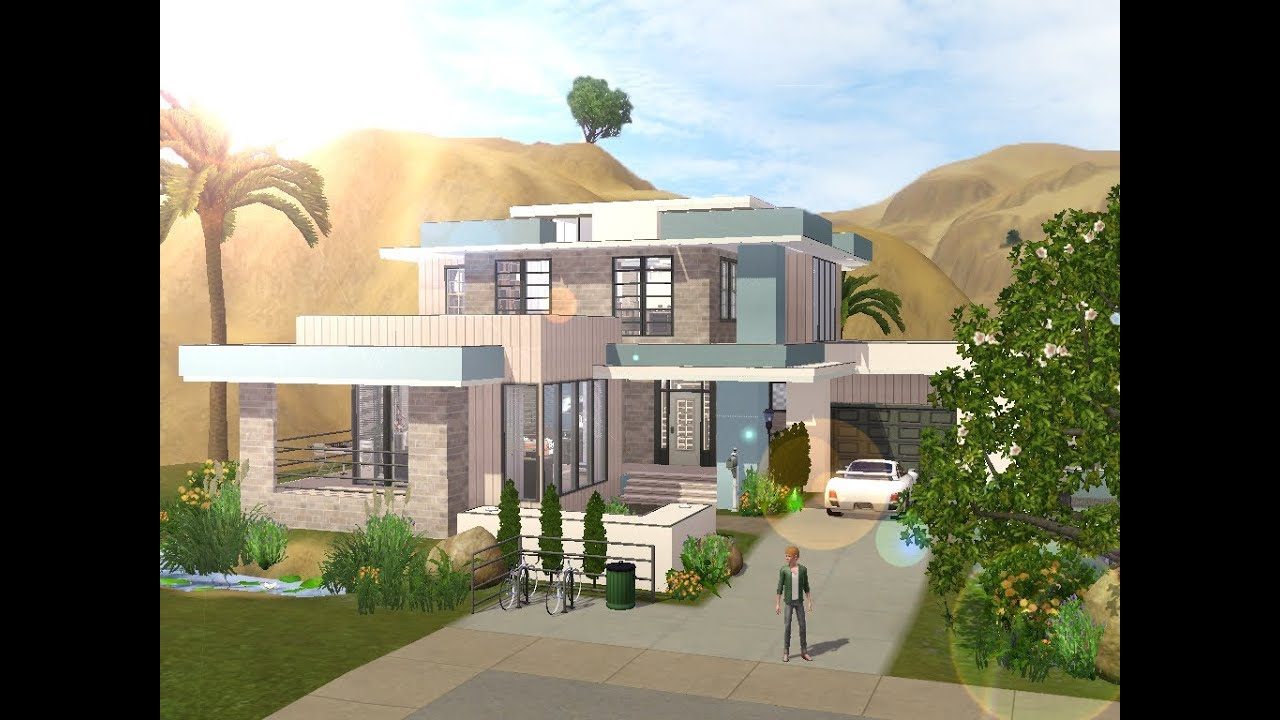 Sims 3 modern celebrity house youtube - The Sims 3 Building A Small Modern Familyhouse Youtube