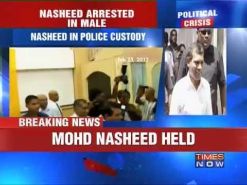 Former Maldives President Nasheed arrested.