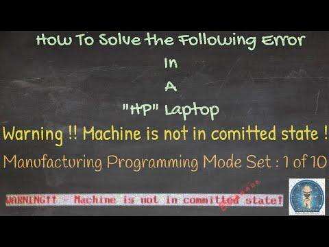 Machine Not In Committed State Issue in Hp laptop Solve #Satishbhai & #Aditya11ttt