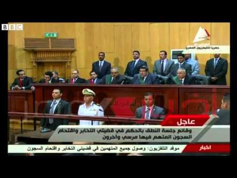 Death sentence for Egypt's former leader Mohammed Morsi