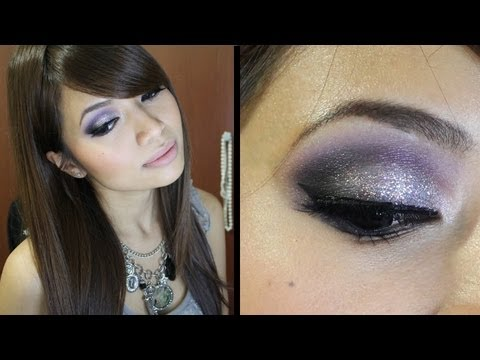New Years Eve Holiday Makeup Tutorial (Day to Night Party Silver Look)