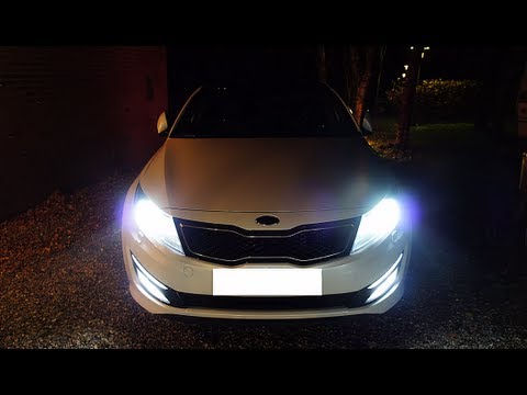 21x5630 vs 30x5050 SMD/LED H8 Bulbs (Test on a KIA OPTIMA)
