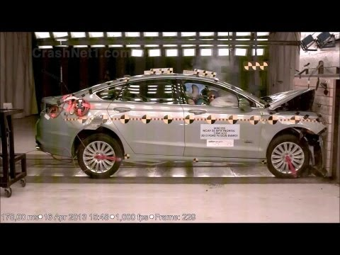 2013 Ford Fusion Energi | Frontal Crash Test by NHTSA | CrashNet1