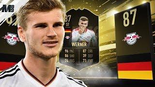 FIFA 19 TIF WERNER REVIEW | 87 TIF WERNER PLAYER REVIEW | FIFA 19 ULTIMATE TEAM