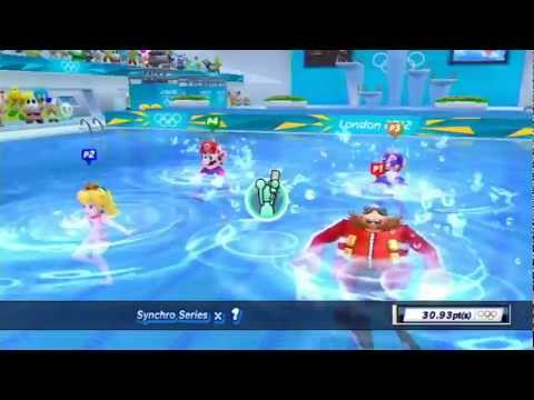 Mario and Sonic at the London 2012 Olympic Games: Part 4 - Aquatics