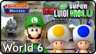 New Super Luigi U - World 6 - Rock-Candy Mines (3 Players, 100% Walkthrough)