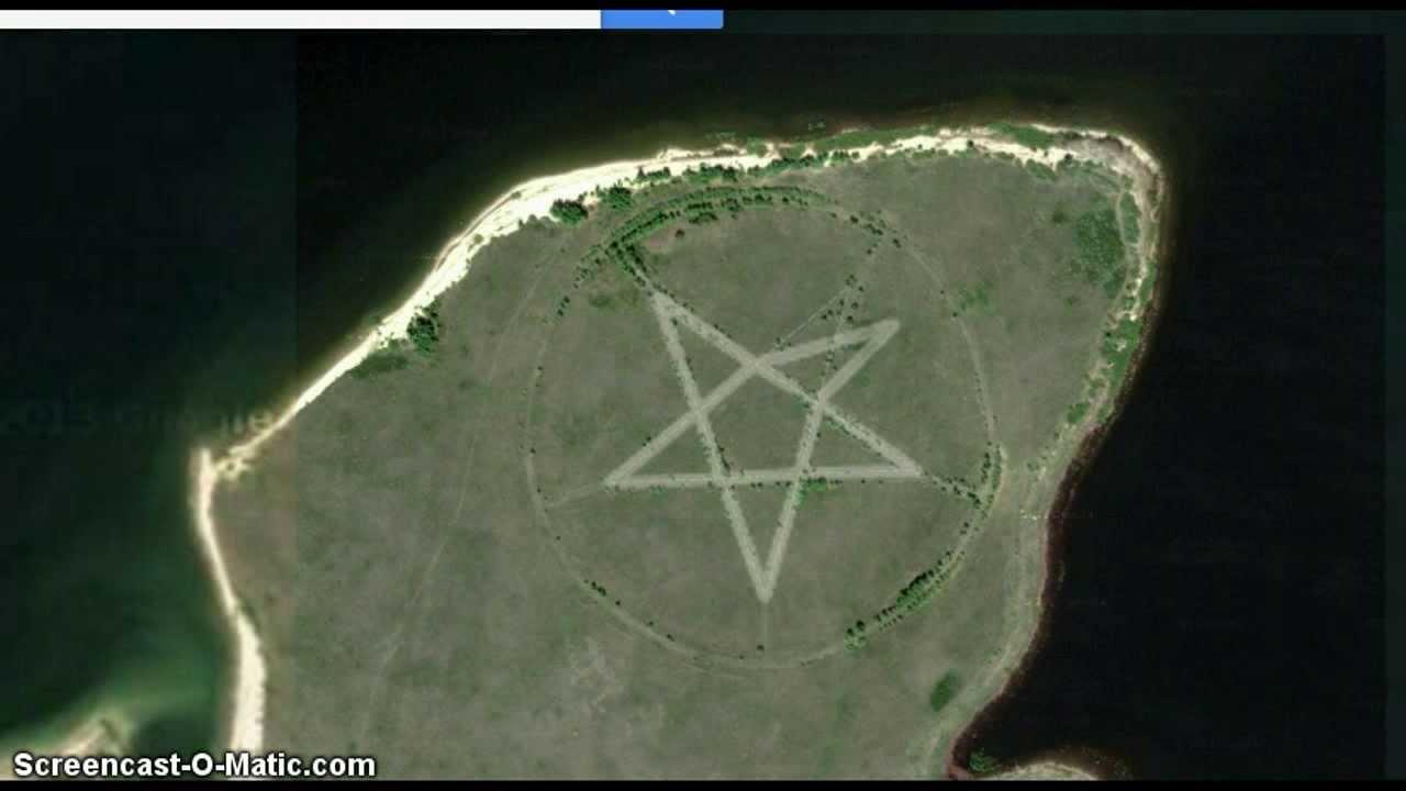 Busted Google Maps Edits Huge Seal Of The Devil Pentagram