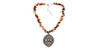 "Joyce Williams Gemstone Nugget 151/4"" Drop Necklace"