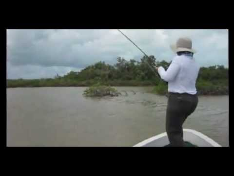 Linda Fly-Fishing for Bonefish in Chetumal Bay, Mexico