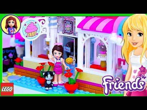 Lego Friends Heartlake Cupcake Café Set Build Review Play - Kids Toys
