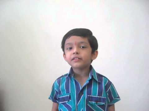 Hum Honge Kamyab Ek Din.......Song - By Atharva Balvalli.(5yrs...