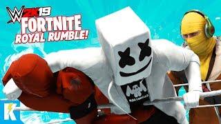 WWE 2k19 FORTNITE Royal Rumble (RAVEN MARSHMELLO AND RAPTOR SKINS) Pt. 2 | KIDCITY GAMING