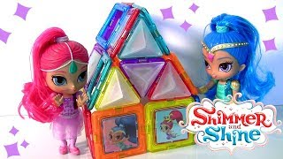 Shimmer and Shine MAGFORMERS 3D Magnetic Shapes Tiles Set by Funtoys