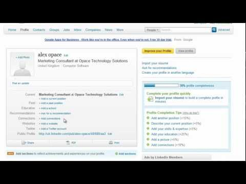 How to Create a LinkedIn Profile (Part 2) - LinkedIn Basics - Opace LinkedIn Video Tutorials