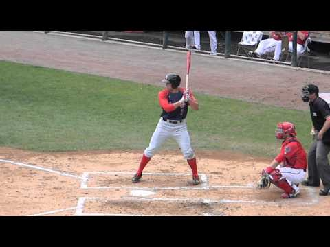RedSox Prospect Garin Cecchini Strikes Out Vs Senators 8/18/13 HD