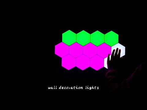 Hexagonal LED light with remote control