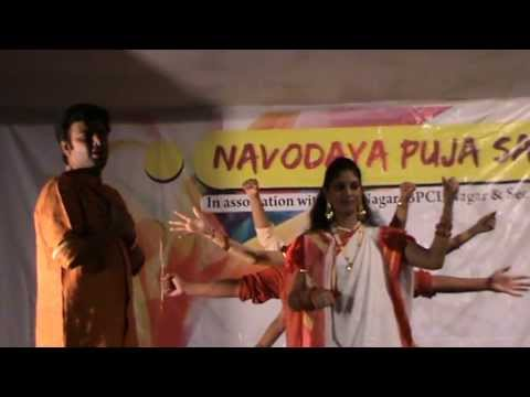 Navodaya Durga Puja Celebration 2013 - Dhaker Tale Mix Dance video
