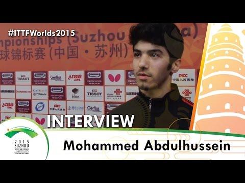 Mohammed Abdulhussein - ITTF 2015 World Championships Interview