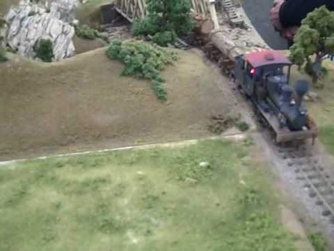On30 Narrow Gauge Log Train with Sound SF Bay Area Video