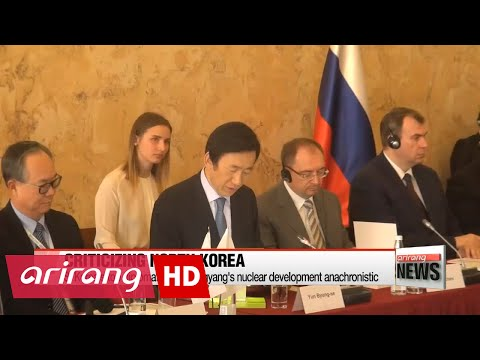 S. Korean FM calls N. Korea's nuclear development anachronistic and vows stronger cooperation...