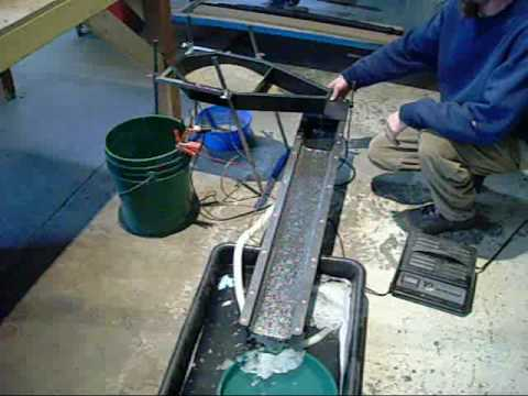 Gold prospecting. Finishing Sluice - Designed by Joel Farmer