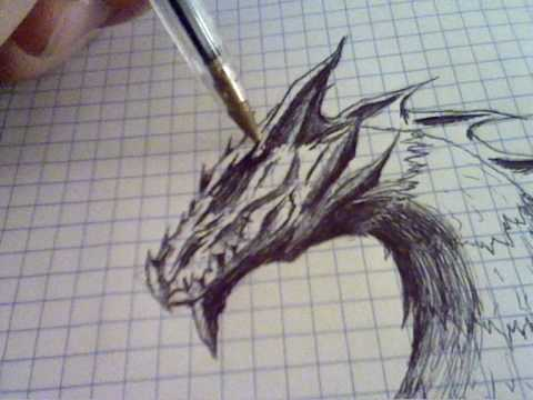 Speed Painting A Dragon + three pictures