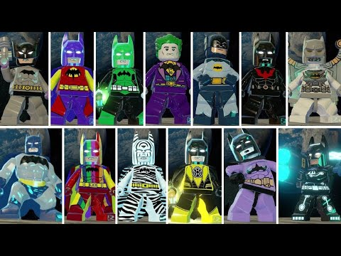 All Batman Characters & Suits in LEGO Batman 3