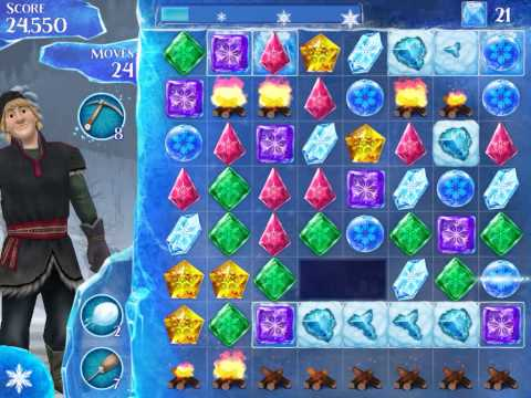 Frozen Free Fall Level 237 Live Action Play Walkthrough