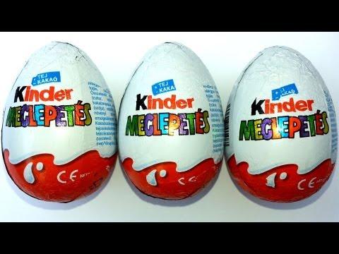 3 Kinder Surprise Eggs Unboxing