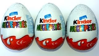 3 Kinder Surprise Eggs Unboxing