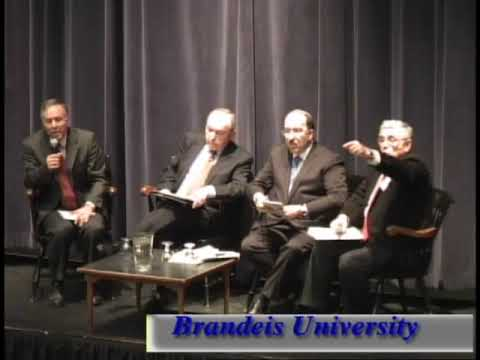 Richard Goldstone and Dore Gold discuss the U.N. Gaza Report at Brandeis