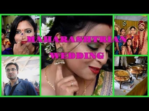 Maharashtrian wedding vlog | food | Saree Makeup Gajra | A fun day