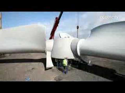 Ecotricity - Bristol Port - Wind Turbine Construction Video