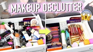MAKEUP DECLUTTER OF MY MOST USED MAKEUP (everything must go)