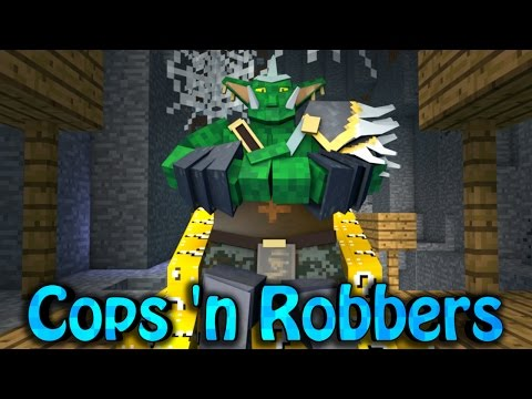 Minecraft COPS AND ROBBERS CHALLENGE Bosses vs Youtubers w SkyDoesMinecraft Friends